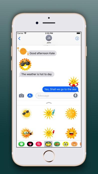 Sun Emoji Stickers Pro screenshot one