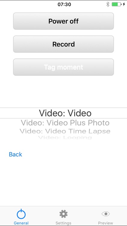 Camera Control for GoPro Hero
