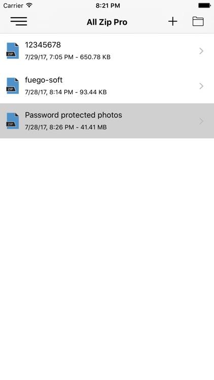 Unzip Unrar - Lock n Hide file screenshot-3