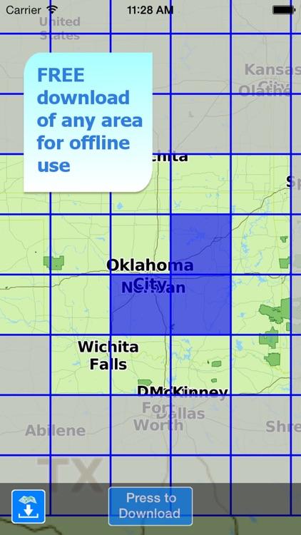 Aqua Map Oklahoma Lakes GPS HD screenshot-4