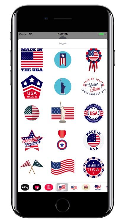 USA - American stickers screenshot-3