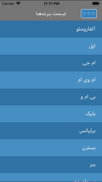Iran Cars - مشخصات فنی خودروها