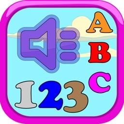 ABC 123 Alphabet numbers sound