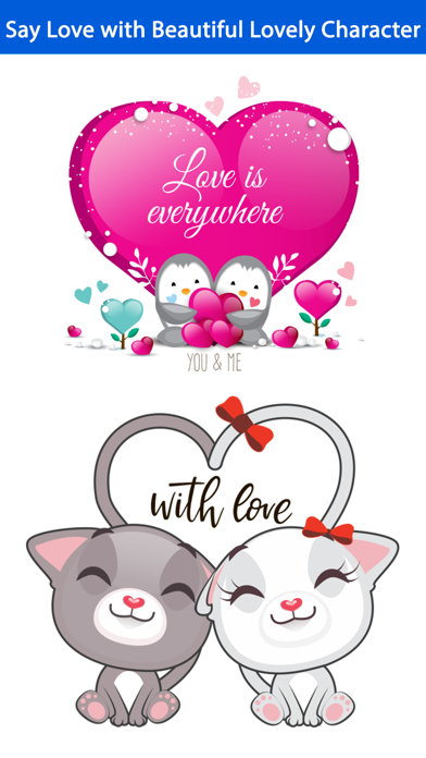 Love Quotes with Lovely & Cute Animal Couple Pack screenshot 2
