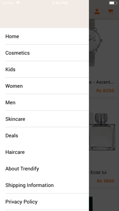 Trendify screenshot two