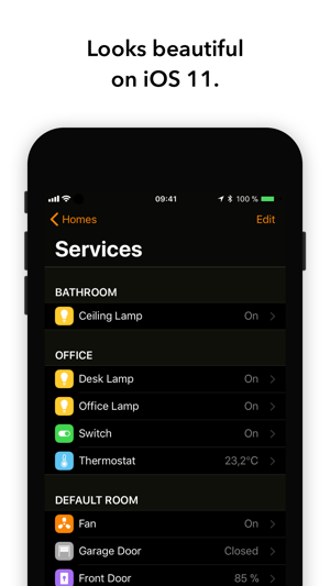 home automation app for iphone