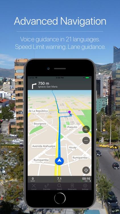Ecuador Offline Navigation screenshot-3