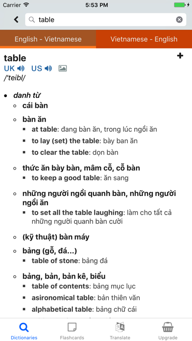 EV Dict - Vietnamese English Dictionary screenshot two