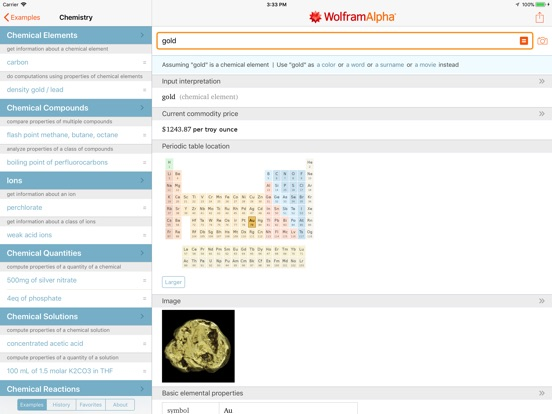 WolframAlpha Screenshots