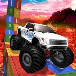 Monster Truck Stunts on Lava: Real Racing