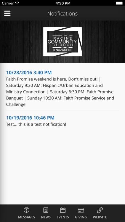 Racine Community Church screenshot-4