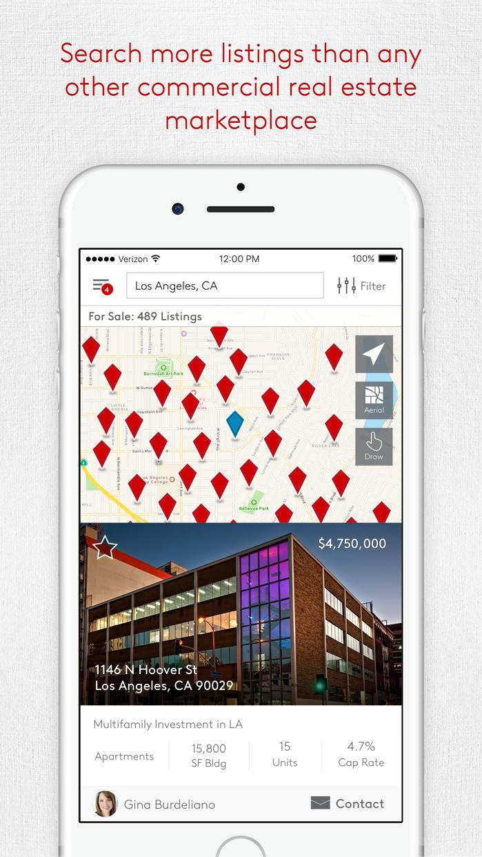 LoopNet Commercial Real Estate Screenshot