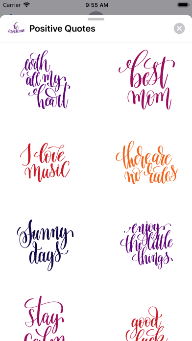 Positive Quotes Stickers screenshot three