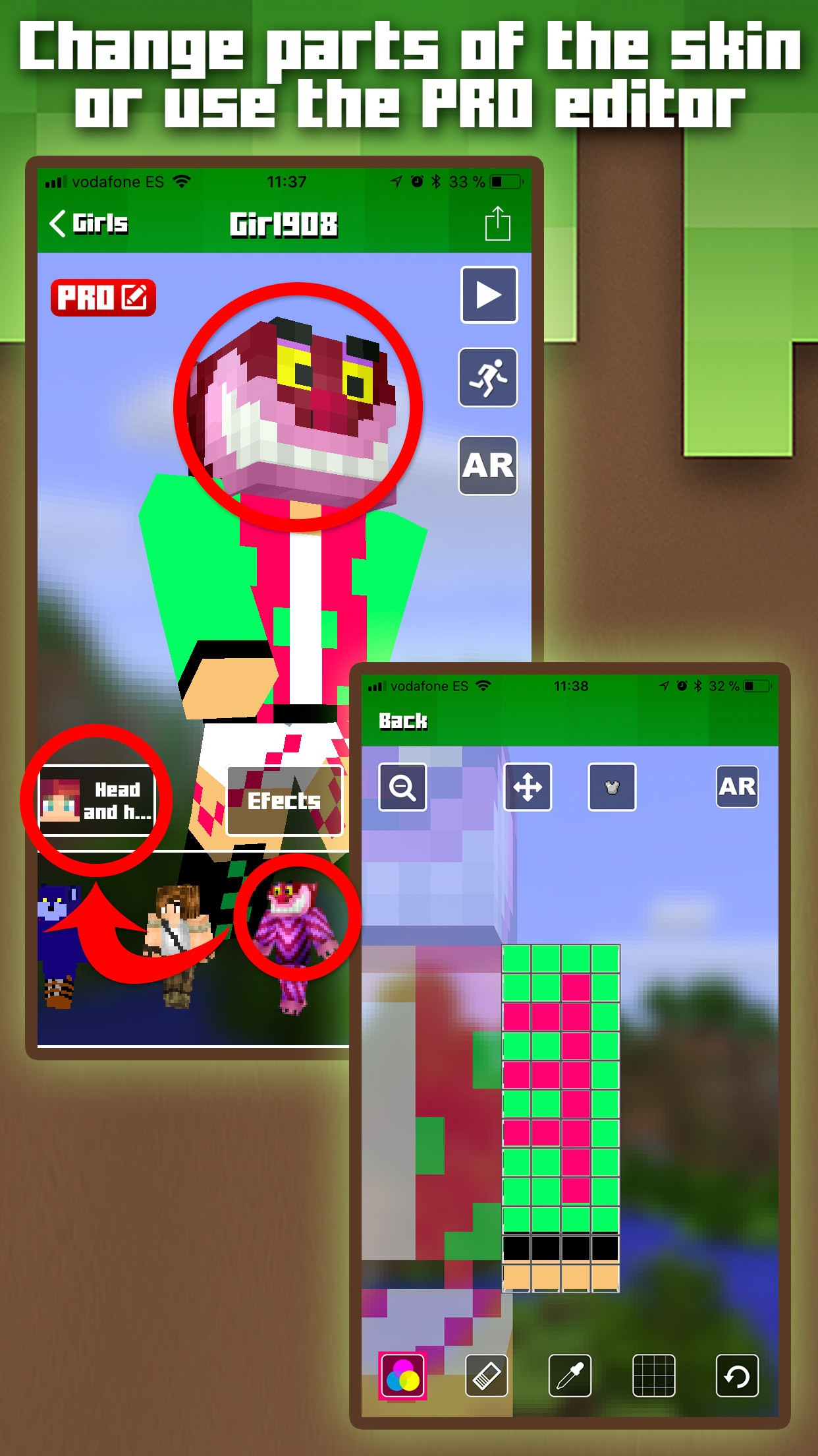 Skins for Minecraft MCPE Screenshot