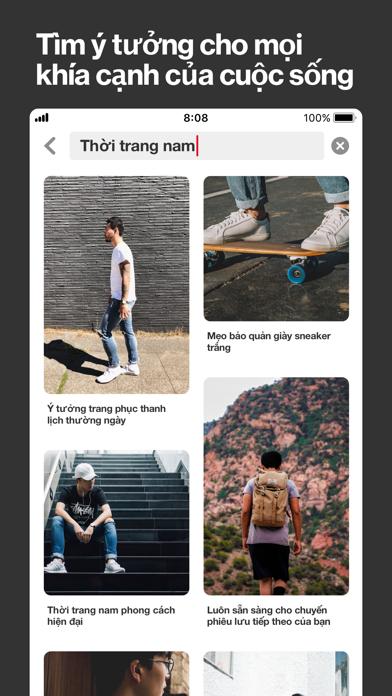 Screenshot for Pinterest in Viet Nam App Store