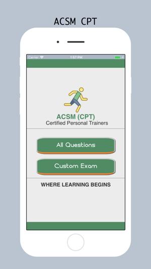 ACSM CPT Test Prep 2018 on the App Store