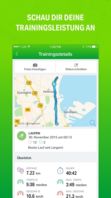 Endomondo Sports Tracker Screenshot