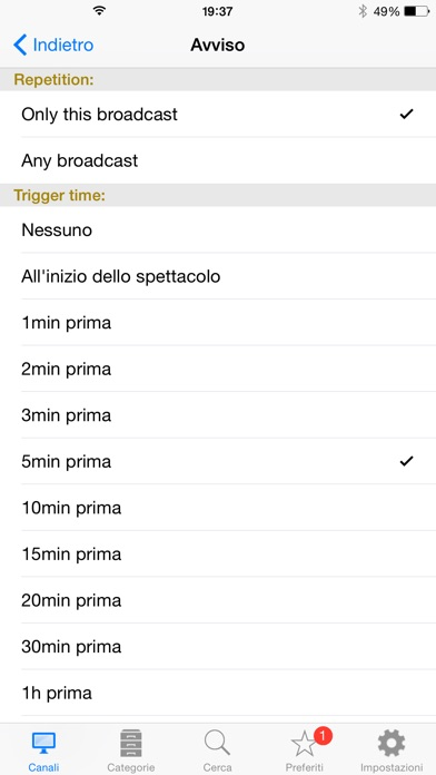 Italian TV Screenshots