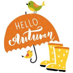 Hello Happy Autumn Stickers
