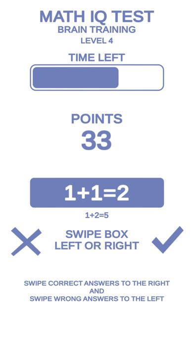 Math IQ Test + Brain Training screenshot 1