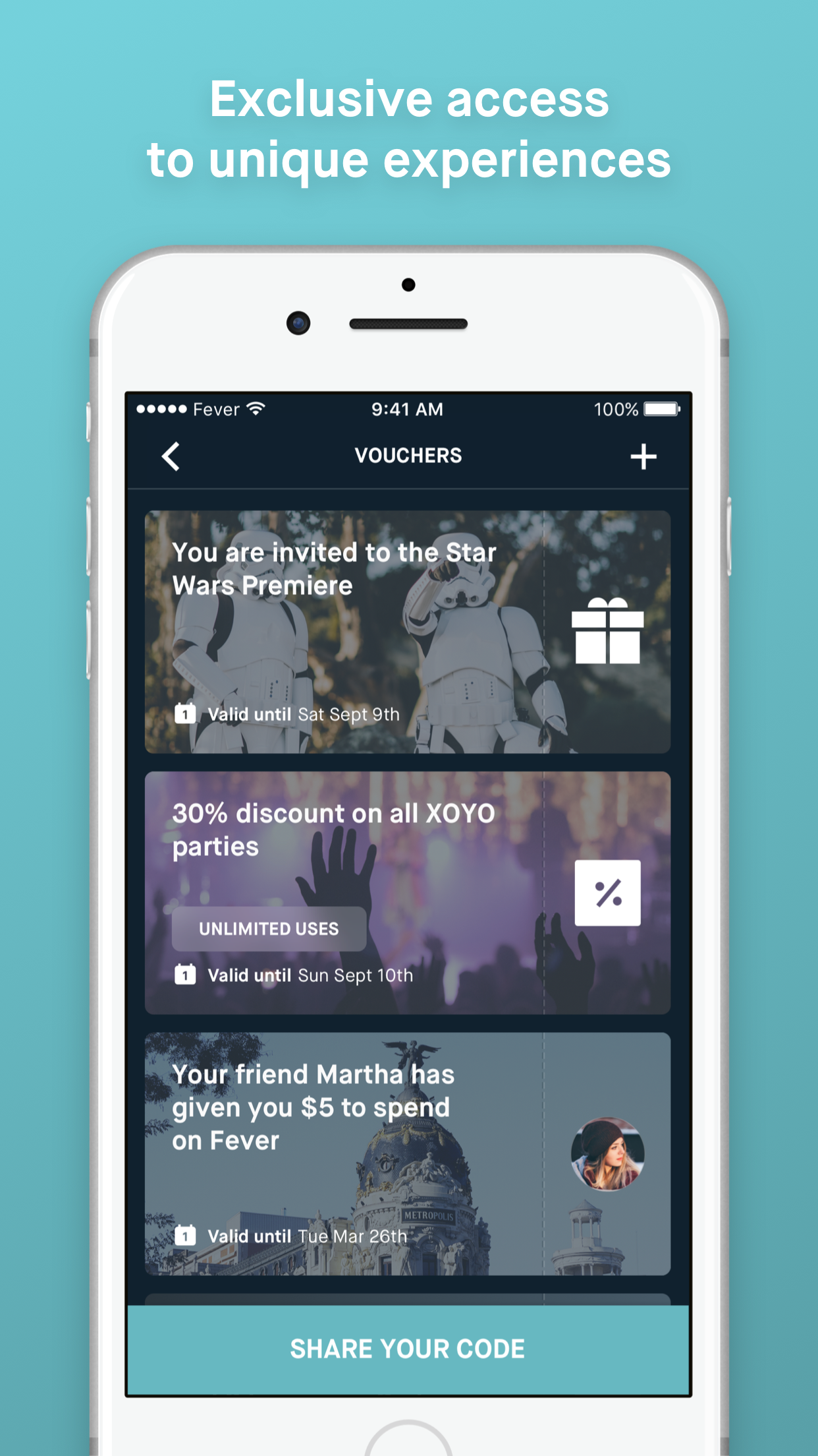 Fever events Screenshot