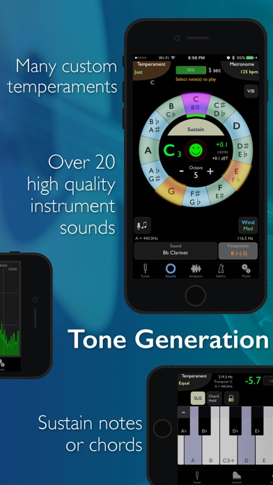 Screenshot for TonalEnergy Tuner & Metronome in Netherlands App Store