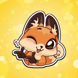 Amber The Fox Emoji Stickers