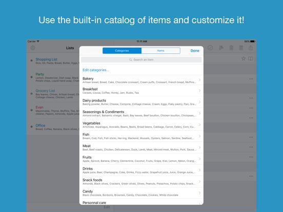 Shoppylist Pro (Grocery List) Screenshots