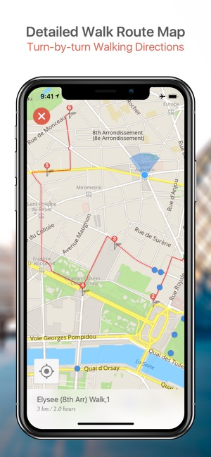 Washington DC Map and Walks on the App Store