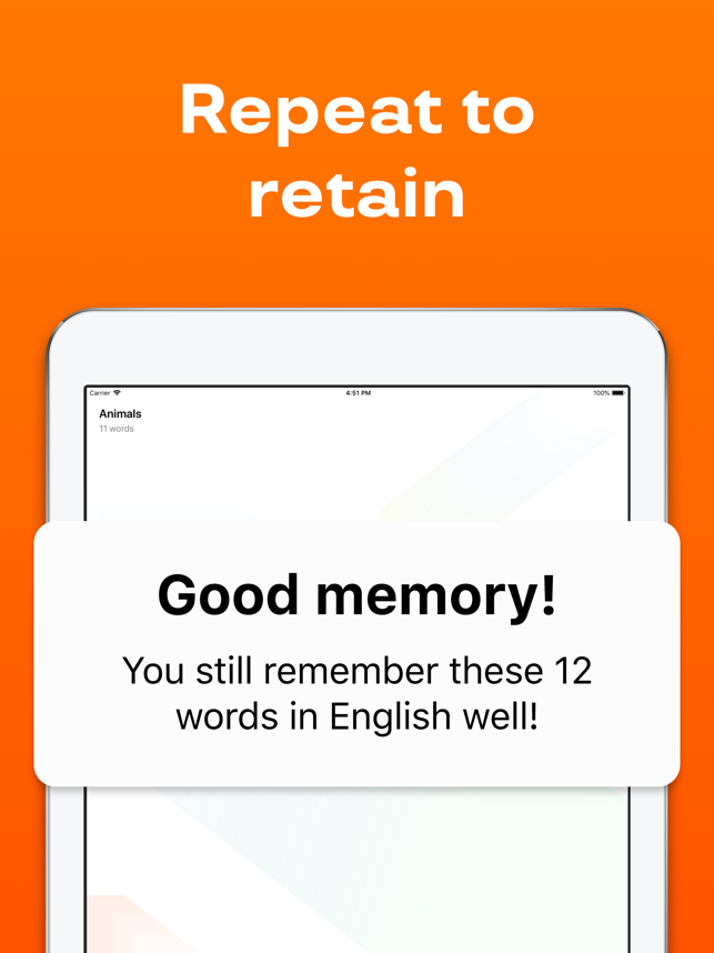 Reji: Learn & Repeat Words App Screenshot