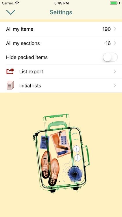 Packing Checklists screenshot-5