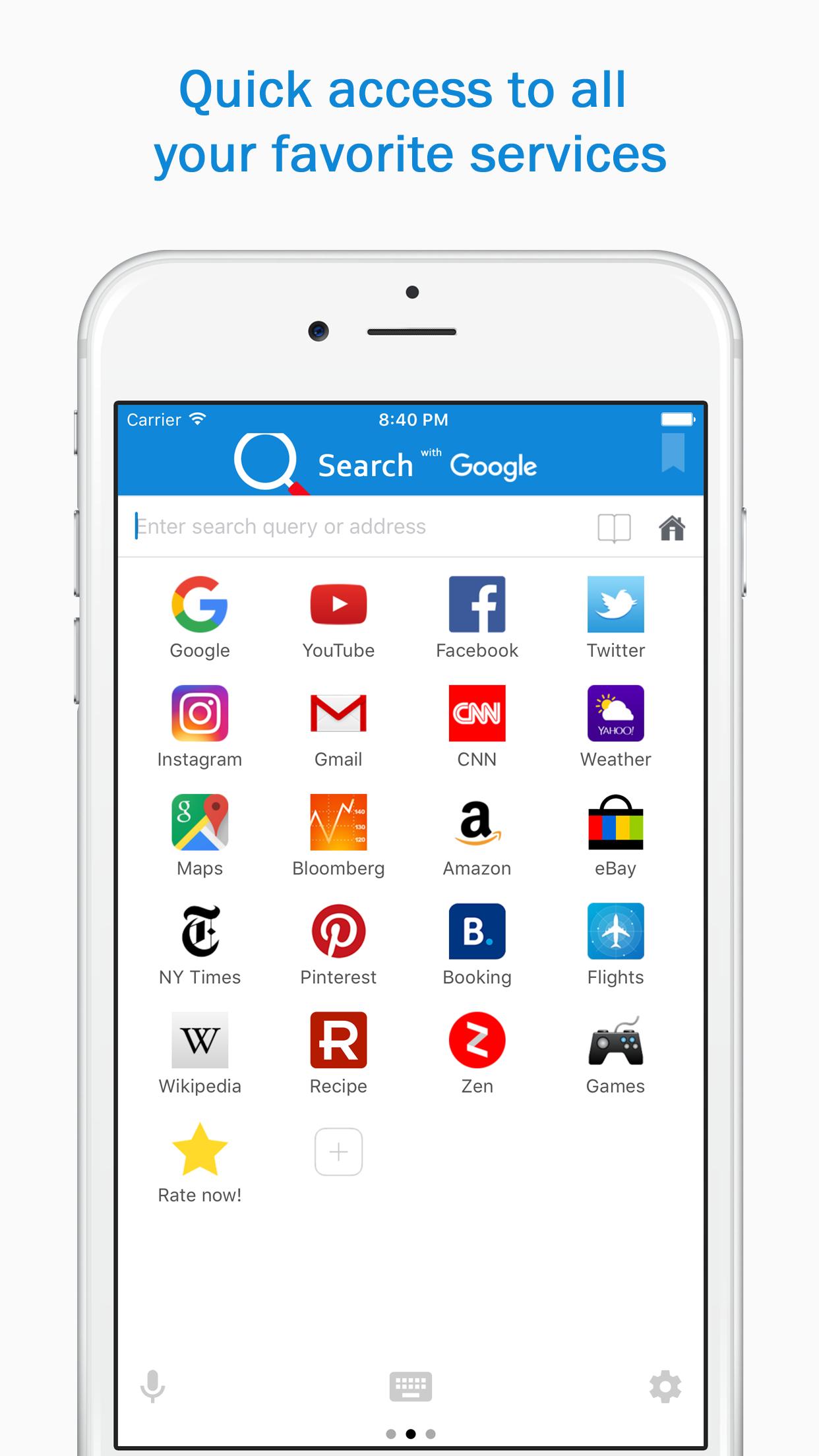 Smart Search & Web Browser Screenshot