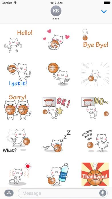 Animated Cat Loves Basketball screenshot 1