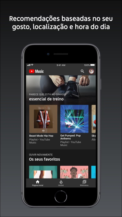 Screenshot for YouTube Music in Portugal App Store
