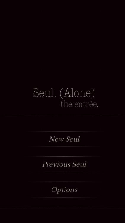 Seul.(Alone) The entrée - CYOA