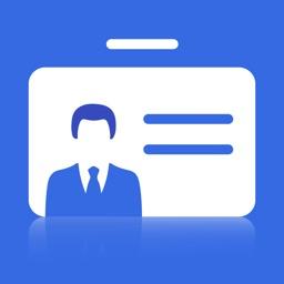 business card scanner & holder