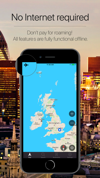 UK Offline Navigation Screenshot