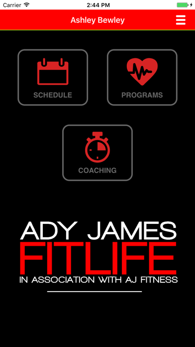 ADY JAMES FITLIFE screenshot two