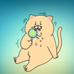 Sad Fat Cat! Stickers