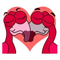 Flamingo Emoji Sticker