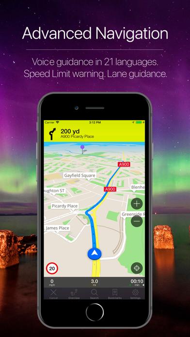Scotland Offline Navigation Screenshot