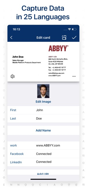 Business card scanner reader on the app store reheart Images
