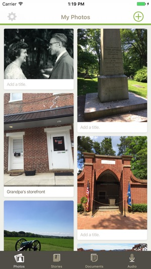 take a screenshot on iphone familysearch memories on the app 18067