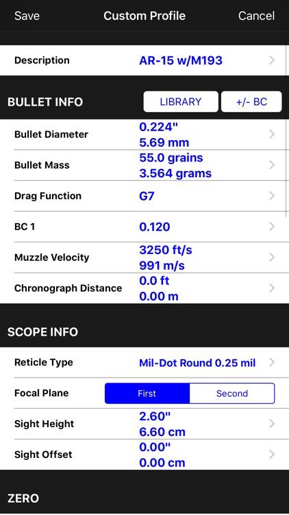 Mil-Dot Ballistics screenshot-5