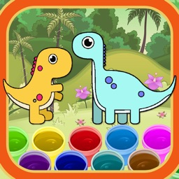 Funny Coloring For Dinosaur