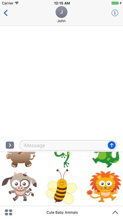 Cute Baby Animals Sticker Pack screenshot-4