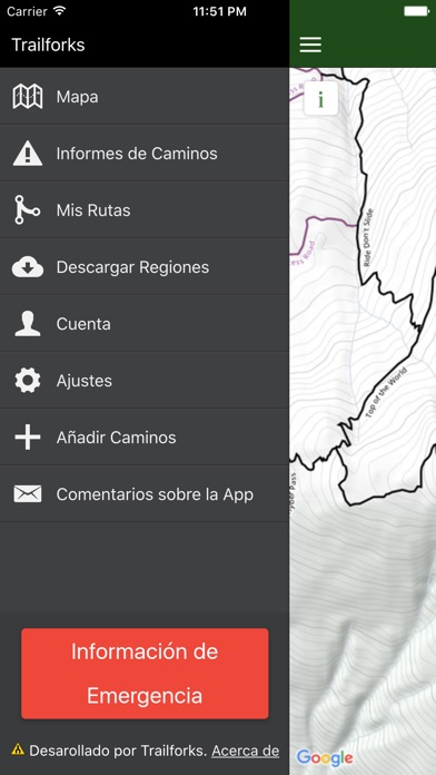 Screenshot for Trailforks - Bicicleta Mapa in Chile App Store