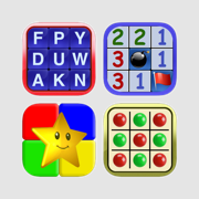 Word Search Deluxe Unlimited, Minesweeper Professional, Simon Says Classic, Connect 4