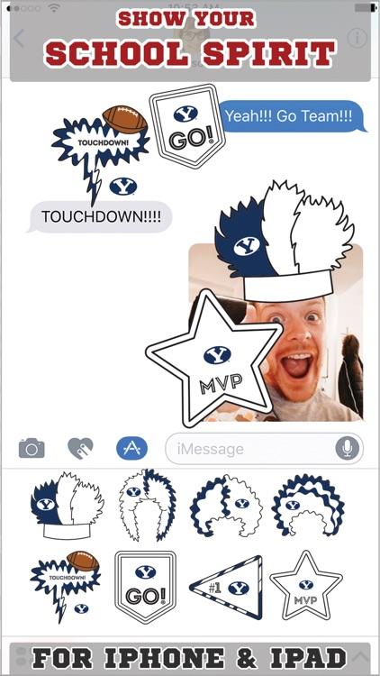 BYU Cougars Stickers Basic