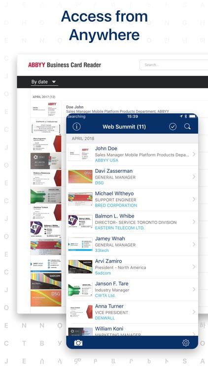 ≡ Business Card Scanner Pro screenshot-4